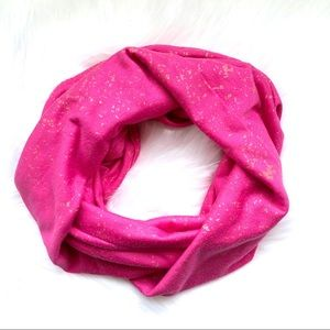 Pink and Gold Infinity Scarf